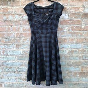 Stop Staring Blue Plaid Retro Full Midi Dress